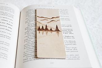 """Papiernictvo - Drevená záložka do knihy """"Pieseň hôr"""" - 12944290_"""