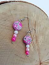 Náušnice - Náušničky jungle ružové - 12944144_