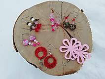 Náušnice - Náušničky jungle ružové - 12944145_