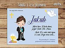 Tabuľky - Darček k 1.sv. prijímaniu - tabuľka k 1.sv. prijímaniu (Chlapčenská) - 12945387_
