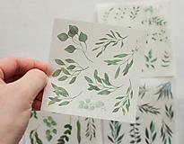 """Papier - Set nálepiek """"Botany Mint"""" - 12943611_"""