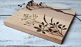 Pomôcky - Drevený lopárik-Rastliny - 12942179_