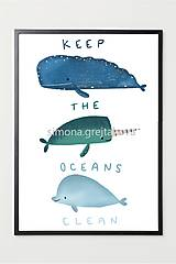 "Grafika - ""Keep The Oceans Clean"" ~ Print - 12944559_"