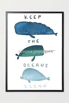 "Grafika - ""Keep The Oceans Clean"" ~ Print - 12944559_"