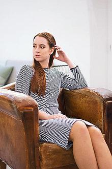 Šaty - Pouzdrové šaty Herringbone - 12945198_
