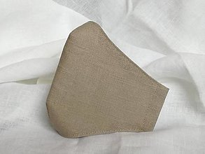 Rúška - Rúško ľanové,prírodné - 12950722_