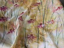 Šatky - Echinacea /hedvábný šátek 75 x 75cm/ - 12950155_