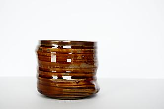 Nádoby - Hnedá nádoba - 12946132_