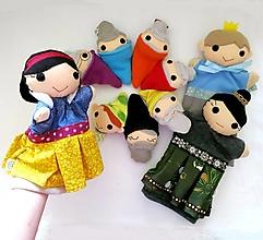 Hračky - Sada manušiek (Snehuienka a sedem trpaslíkov, princ, zlá kráľovná) - 12945930_