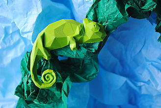 Brošne - Chameleón zelený - 12950282_
