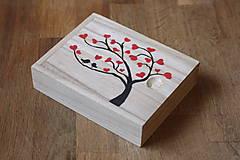 Krabičky - Svadobný darček krabička Hrdličky - 12946902_