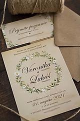 """Papiernictvo - Svadobné oznámenie """"Prírodná svadba"""" ❤ - 12947694_"""