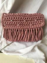 Kabelky - Ružová s perličkami ❤ - 12948728_