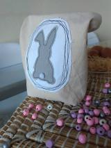 Úžitkový textil - Veľkonočné vrecko so zajačikom - 12949690_