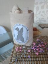 Úžitkový textil - Veľkonočné vrecko so zajačikom - 12949693_