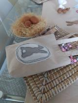 Úžitkový textil - Veľkonočné vrecko so zajačikom - 12949704_