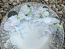 Pierka - Pierko pre svedka - Biela orchidea - 12948561_
