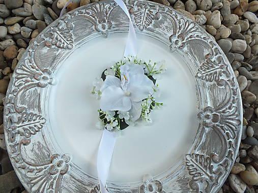 Náramok pre družičku - Biela orchidea