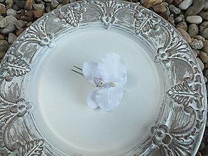 Ozdoby do vlasov - Sponka do vlasov - Biela orchidea - 12948759_