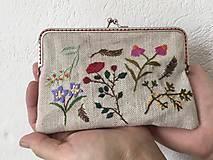 Peňaženky - Vyšívaná peňaženka - 12947310_