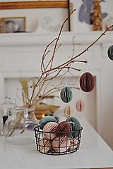 Dekorácie - Veľkonočné papierové vajíčka (8 cm  - Béžová) - 12950362_