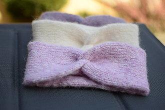 Ozdoby do vlasov - Alpaka čelenka - svetlá ružová - 12947152_