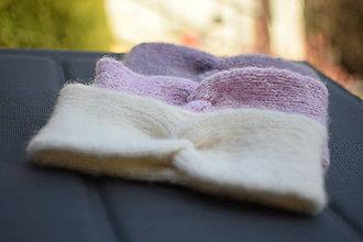 Ozdoby do vlasov - Alpaka čelenka -svetlá krémová - 12947173_