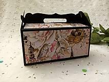 Darčeková krabička (Čierna- vtáčik)