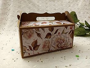 Krabičky - Darčeková krabička (Hnedá) - 12949941_