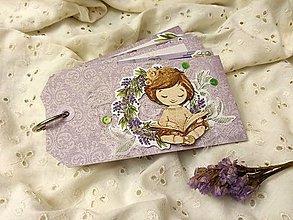 Papiernictvo - Minialbum (Dievča s knihou) - 12950468_