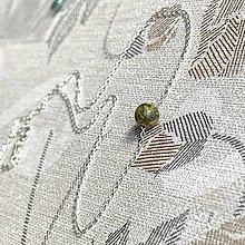 Náhrdelníky - Minimalist Necklace Ag925 - Unakite Bead / Minimalistický strieborný náhrdelník s unakitom - 12951445_