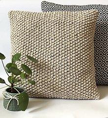 Úžitkový textil - Vankúše SIMPLICITY (Béžová) - 12952224_