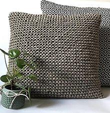 Úžitkový textil - Vankúše SIMPLICITY (Hnedo-sivá) - 12952237_