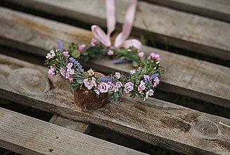 Detské doplnky - Jemný kvetinový venček Ruženka - 12955462_