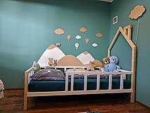 Detské doplnky - Drevená zástena za posteľ - 12955702_