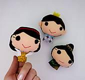 Hračky - Sada maňušiek na prst (Snehulienka a sedem trpaslíkov plus princ a zlá kráľovná) - 12953280_