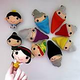 Hračky - Sada maňušiek na prst (Snehulienka a sedem trpaslíkov plus princ a zlá kráľovná) - 12953285_