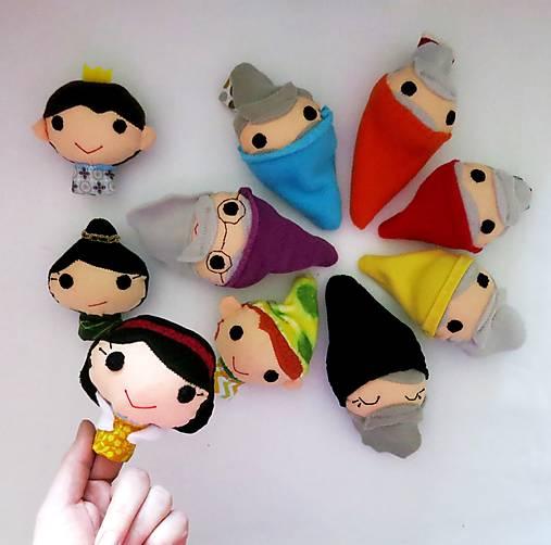 Sada maňušiek na prst (Snehulienka a sedem trpaslíkov plus princ a zlá kráľovná)