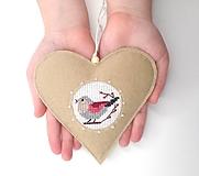 Dekorácie - S láskou pre Teba (Vtáčik) - 12951442_