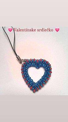 Drobnosti - Valentínske srdiečko prívesok - 12954873_