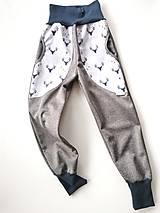 """Detské oblečenie - Softshellové nohavice """"grey&deer"""" - 12951253_"""