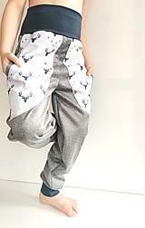 """Detské oblečenie - Softshellové nohavice """"grey&deer"""" - 12951255_"""