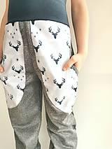 """Detské oblečenie - Softshellové nohavice """"grey&deer"""" - 12951257_"""