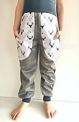 """Detské oblečenie - Softshellové nohavice """"grey&deer"""" - 12951260_"""