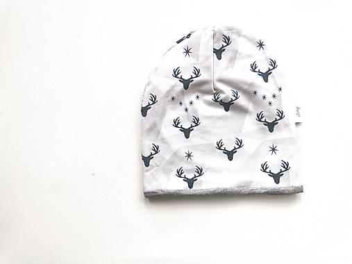"""Dvojvrstvová čiapka""""grey&deer"""""""