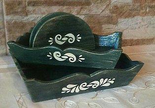 Krabičky - Stojan na servítky s ornamentom - 12954259_