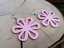 Náušnice - Náušničky kvietky ružové - 12954536_