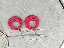 Náušnice - Náušničky ozdôbky červené - 12954668_