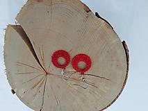 Náušnice - Náušničky ozdôbky červené - 12954674_