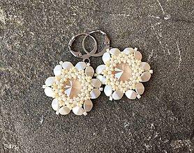 Náušnice - Maslové kvetinkové náušnice II. - 12954384_
